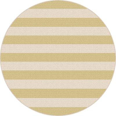 Fairhaven Yellow/Cream Indoor/Outdoor Area Rug Rug Size: Round 710