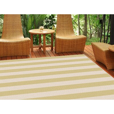 Fairhaven Yellow/Cream Indoor/Outdoor Area Rug Rug Size: 53 x 73