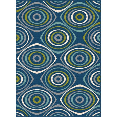 Fairhaven Navy Indoor/Outdoor Area Rug Rug Size: 53 x 73