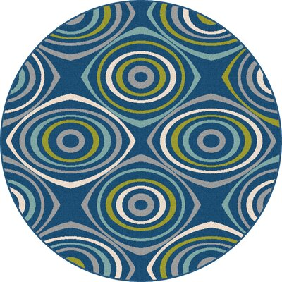 Eichorn Navy Indoor/Outdoor Area Rug Rug Size: Round 710