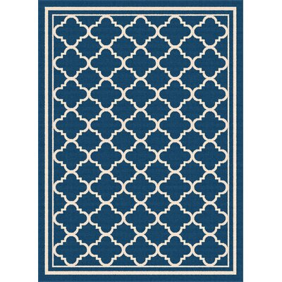 Martinique Navy Indoor/Outdoor Area Rug Rug Size: Rectangle 53 x 73