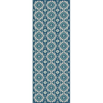 Bilodeau Blue Indoor/Outdoor Area Rug Rug Size: Runner 27 x 73