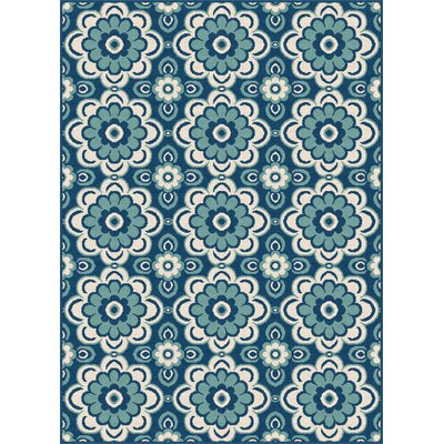 Bilodeau Blue Indoor/Outdoor Area Rug Rug Size: Rectangle 53 x 73
