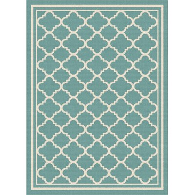 Fairhaven Aqua Indoor/Outdoor Area Rug Rug Size: 710 x 103
