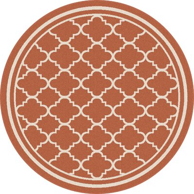 Martinique Orange Indoor/Outdoor Area Rug Rug Size: Round 710