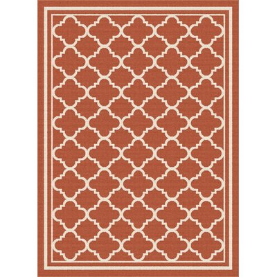 Fairhaven Orange Indoor/Outdoor Area Rug Rug Size: 53 x 73