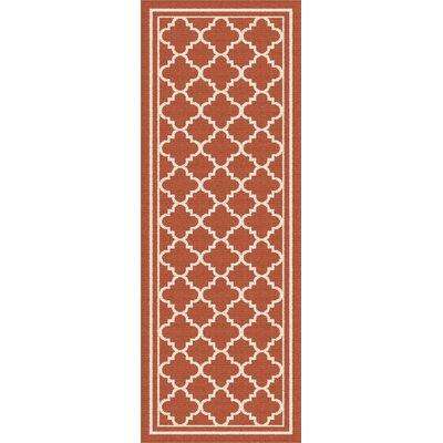 Fairhaven Orange Indoor/Outdoor Area Rug Rug Size: Runner 27 x 73
