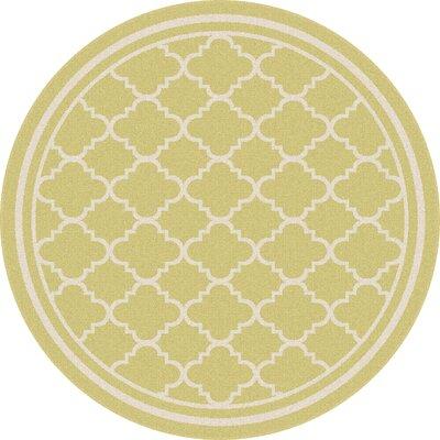 Fairhaven Yellow Indoor/Outdoor Area Rug Rug Size: Round 710
