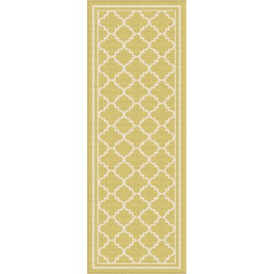 Fairhaven Yellow Indoor/Outdoor Area Rug Rug Size: Runner 27 x 73
