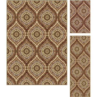 Dalton 3 Piece Beige Area Rug Set