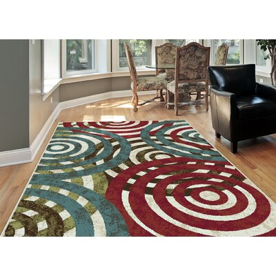 Berwick Red/Green Area Rug Rug Size: Rectangle 710 x 103