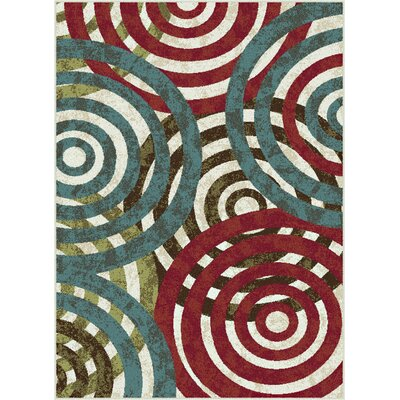 Berwick Red/Green Area Rug Rug Size: 53 x 73