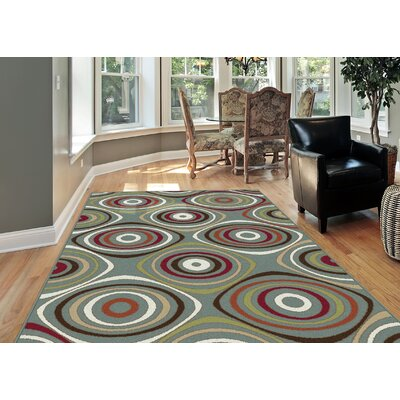 Berwick Blue Area Rug Rug Size: Rectangle 710 x 103