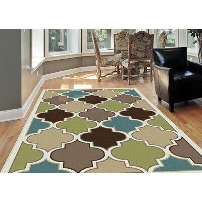 Berwick Green/Brown Area Rug Rug Size: Rectangle 710 x 103