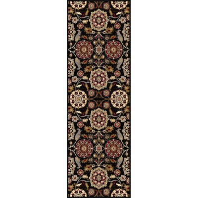 Barbarra Black Area Rug Rug Size: Runner 2'7 x 7'3