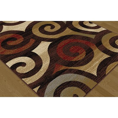 Oliver Red/Brown Area Rug Rug Size: 710 x 103
