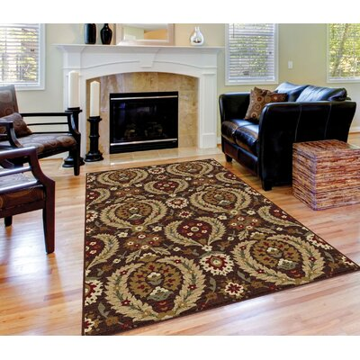 Barbarra Brown Area Rug Rug Size: Rectangle 53 x 73