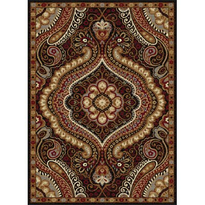 Monterey Brown/Red Area Rug Rug Size: 76 x 910