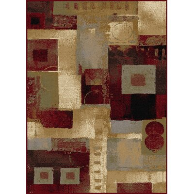 Barbarra Brown/Red Area Rug Rug Size: Rectangle 710 x 103