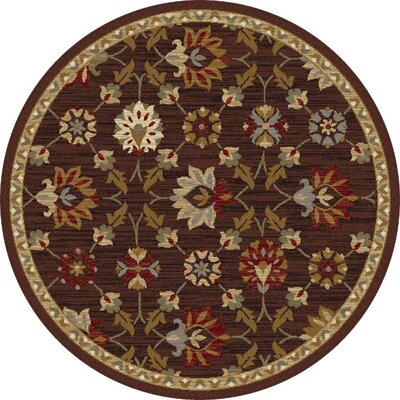 Percy Brown Area Rug Rug Size: Round 53