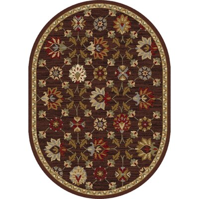 Percy Brown Area Rug Rug Size: Oval 67 x 96