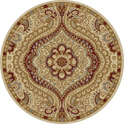 Ramsey Ivory Area Rug Rug Size: Round 710