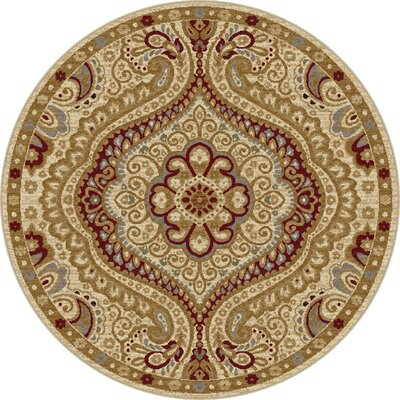 Ramsey Ivory Area Rug Rug Size: Round 53