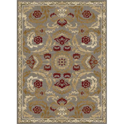 Barbarra Beige/Brown Area Rug Rug Size: 53 x 73