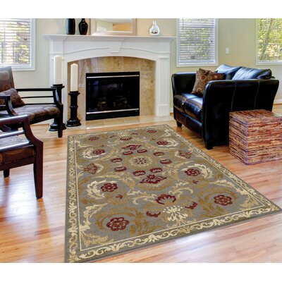 Barbarra Beige/Brown Area Rug Rug Size: Rectangle 53 x 73