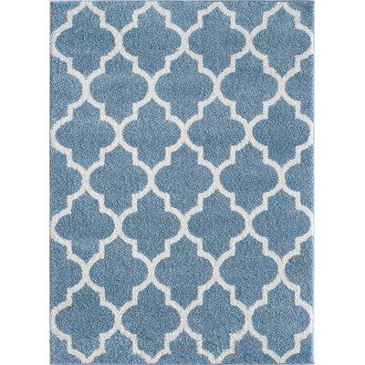 Hartfield Blue Area Rug Rug Size: 710 x 910