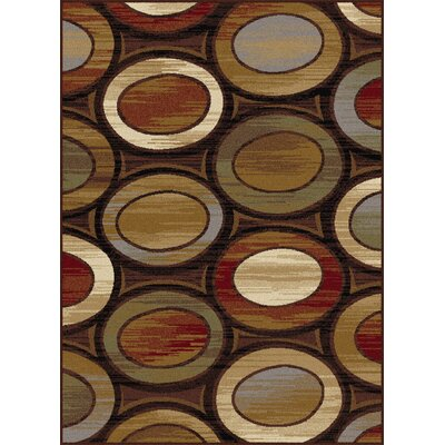 William Brown/Ivory Area Rug Rug Size: 5 x 7