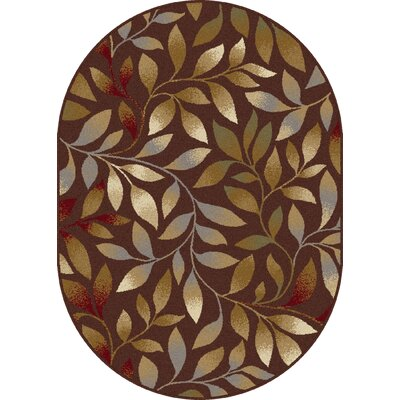 Geneva Brown Area Rug Rug Size: Oval 5'3