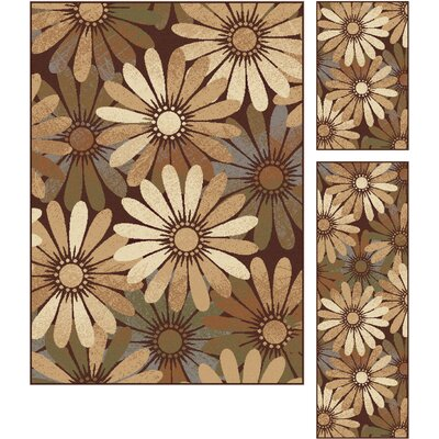 Colette 3 Piece Tan Area Rug Set