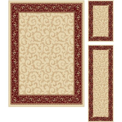 Langlee 3 Piece Beige Area Rug Set