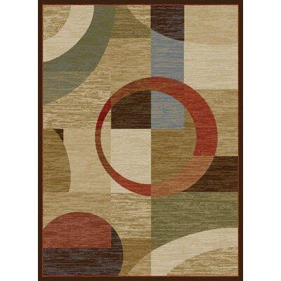 Colette Geometric Tan Area Rug Rug Size: 93 x 125