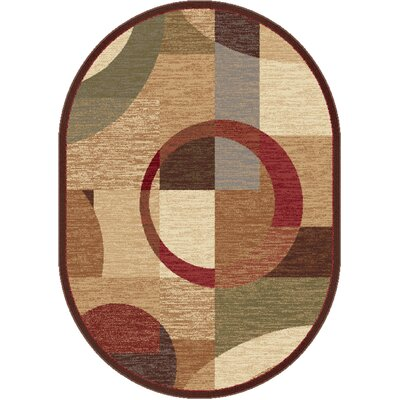 Colette Geometric Tan Area Rug Rug Size: Rectangle 93 x 125