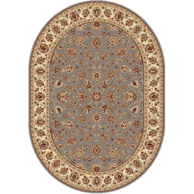 Laplant Transitional Orange Area Rug Rug Size: Oval 53 x 73