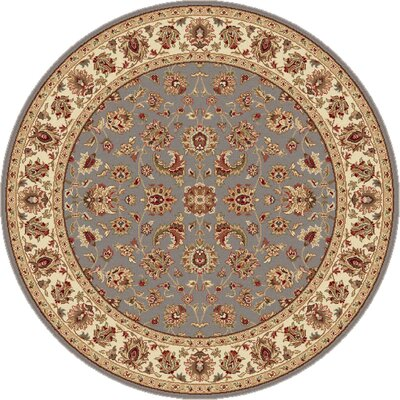 Laplant Transitional Orange Area Rug Rug Size: Round 710