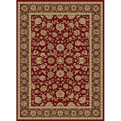 Laplant Red Area Rug Rug Size: Rectangle 93 x 125