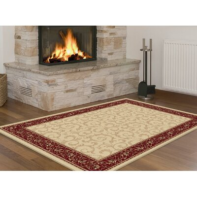 Langlee Beige Area Rug Rug Size: Rectangle 76 x 910