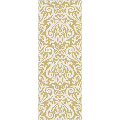 Brookville Yellow Area Rug Rug Size: Runner 27 x 73