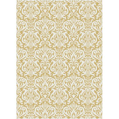 Brookville Yellow Area Rug Rug Size: 710 x 103