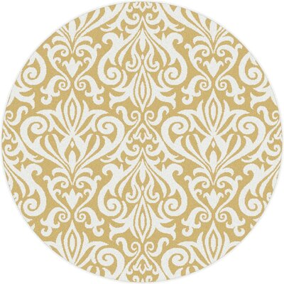 Brookville Yellow Area Rug Rug Size: Round 53