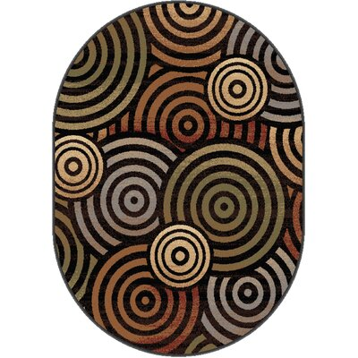 Colette Beige Area Rug Rug Size: Oval 67 x 96