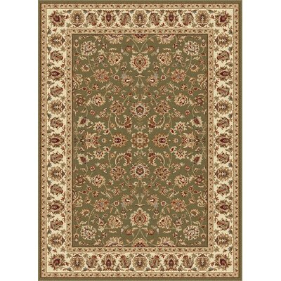 Laplant Oriental Orange Area Rug Rug Size: Rectangle 93 x 125