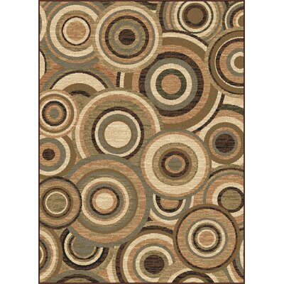 Colette Beige/Green Area Rug Rug Size: Rectangle 93 x 125