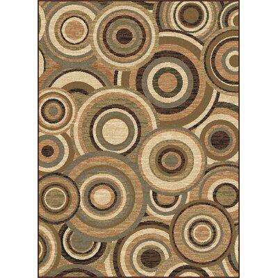 Colette Beige/Green Area Rug Rug Size: Rectangle 76 x 910