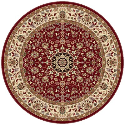 Langlee Transitional Red Area Rug Rug Size: Round 710