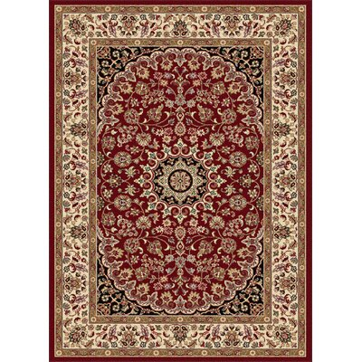 Langlee Transitional Red Area Rug Rug Size: 93 x 125
