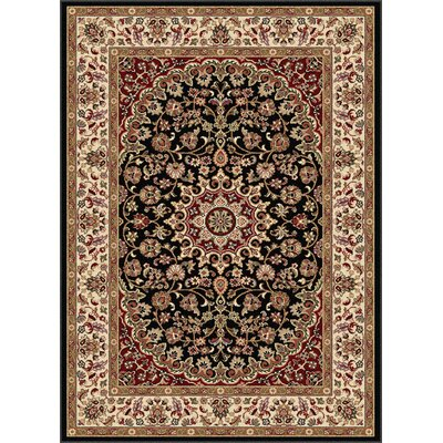 Langlee Black/Red Area Rug Rug Size: Rectangle 93 x 125